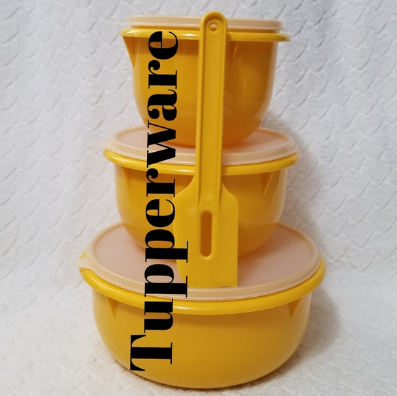 Tupperware Other - 🍃⚘Tupperware⚘🍃3pc Classic Mixing Bowl Set